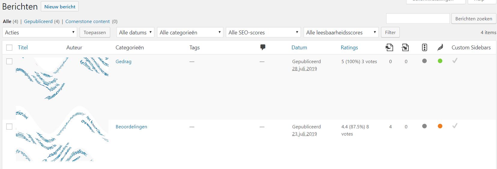 Unieke sidebar instellen voor een specifiek bericht of pagina