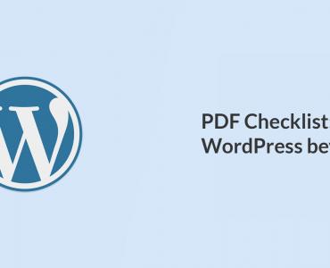 Checklist WordPress beveiligen