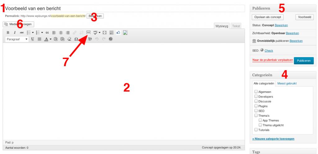 WordPress-bericht-voorbeeld