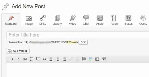 Content Management in WordPress 3.6
