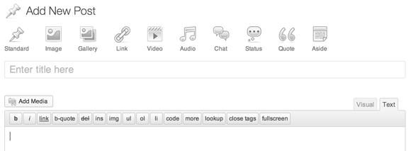 Hoe de nieuwe Post Formats UI er uit zou gaan zien.