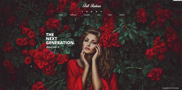 Full Fashion: Full-Screen WordPress Theme