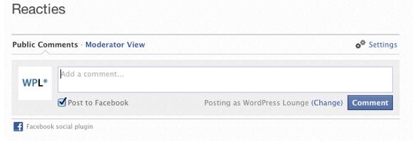 Reageren met je eigen pagina.