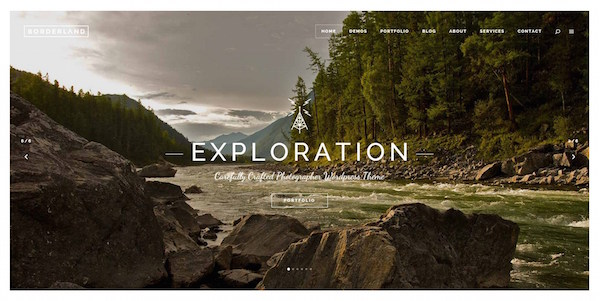 Borderland: uniek Full-Screen WordPress theme