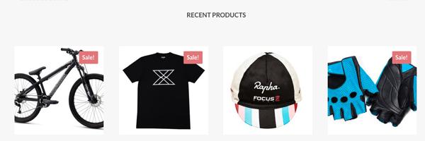 Toon je meest recente producten op de homepage van je website dankzij WooCommerce-integratie.