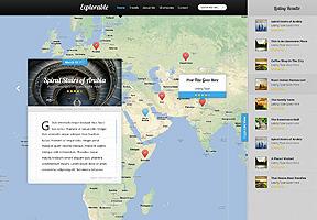 Explorable WordPress theme