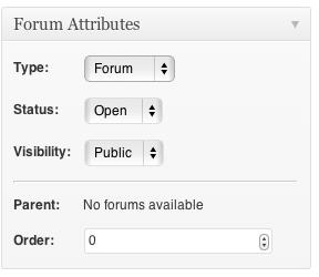 Opties van een subforum.