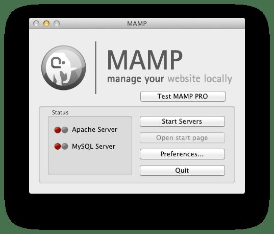 Start Servers MAMP