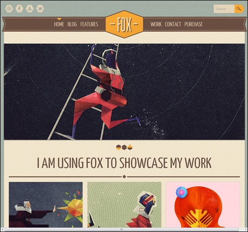 Fox Vintage WordPress Theme