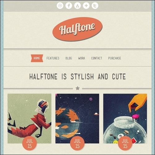 Halftone WordPress Theme