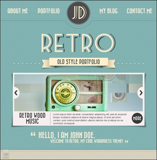 Retro Portfolio WordPress theme