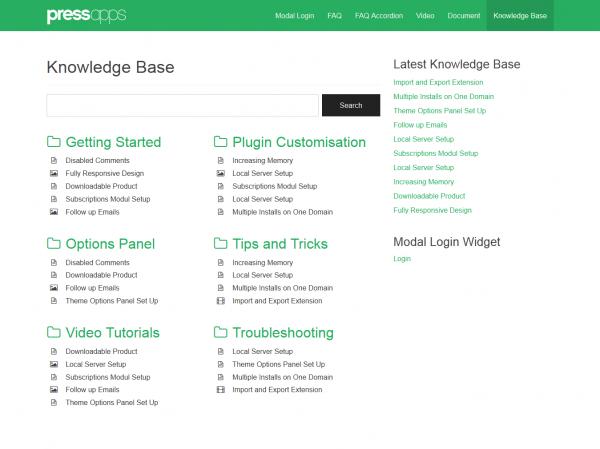 Knowledge Base WordPress Plugin