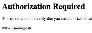 Klikt de gebruiker op 'Annuleren' omdat hij de inlog gegevens niet heeft, dan komt hij op deze pagina.