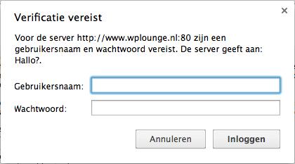 Directory beveiliging WordPress