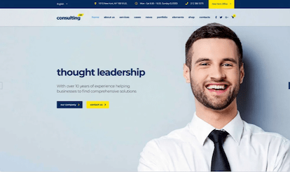 Consulting theme template