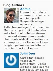 Author avatars plugin