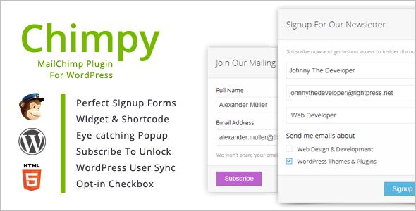 Chimpy, de plugin die wij  gebruiken voor onze nieuwsbrief.