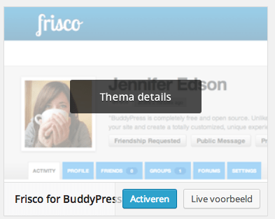 Activeer Frisco