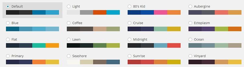Meer kleurenschema's