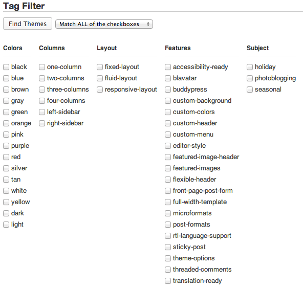 tag-filter-wp-theme-directory