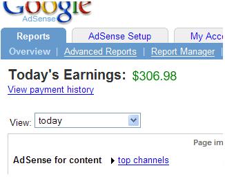 Google Adsense inkomsten