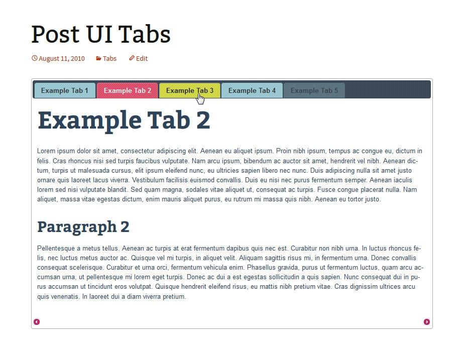 Post UI Tabs