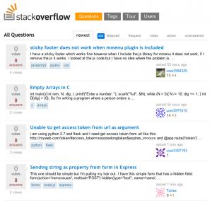 Stackoverflow, een van de bekendste Q&A-websites.