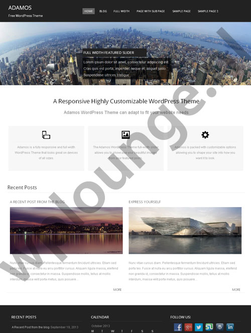 Adamos gratis WordPress theme