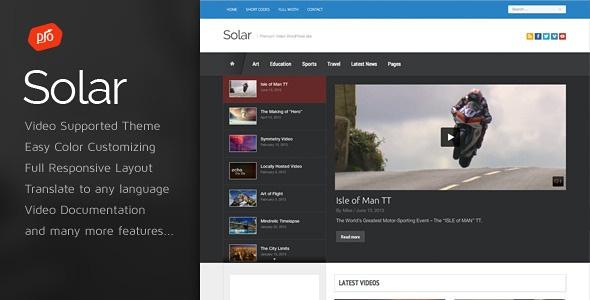 Solar video theme WordPress