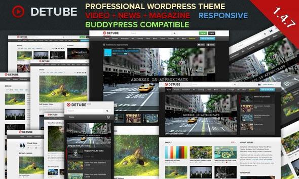 deTube WordPress video theme