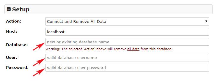Duplicator database