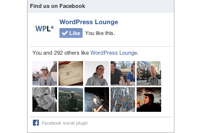Facebook Like Box WordPress