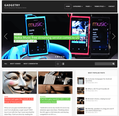 Gadgetry gratis WordPress theme