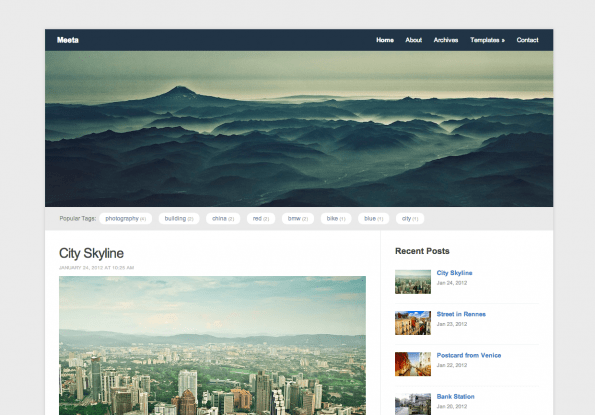 Meeta gratis WordPress theme