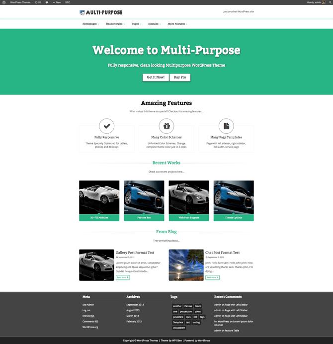 Multipurpose, gratis WP theme