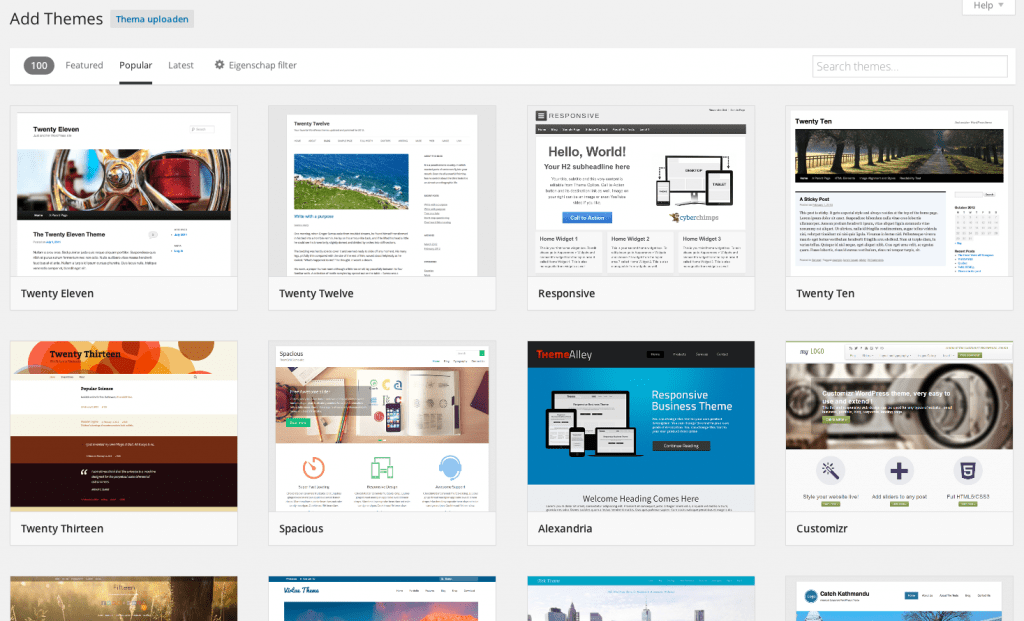 Theme Browser WordPress 3.9