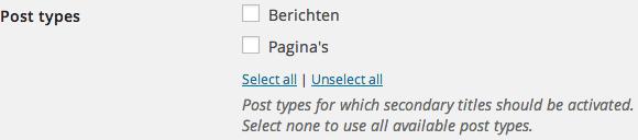 Post Types Subtitle
