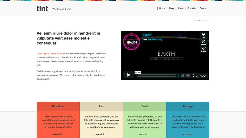 Tint WordPress Theme