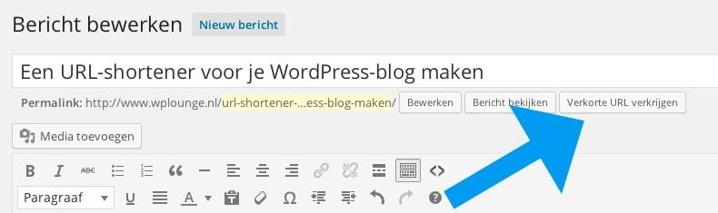 Verkorte URL krijgen WordPress