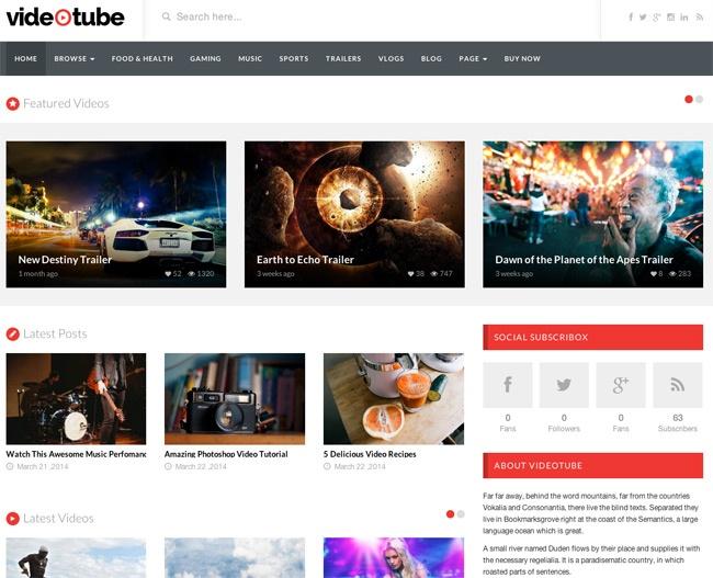 WordPress video theme; VideoPress