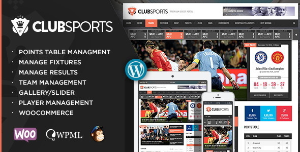Club Sports Nieuws Theme