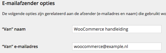 WooCommerce E-mail