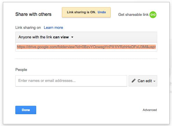 deelbare link Google Drive