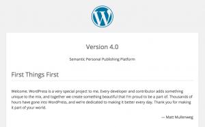 Readme bestand WordPress