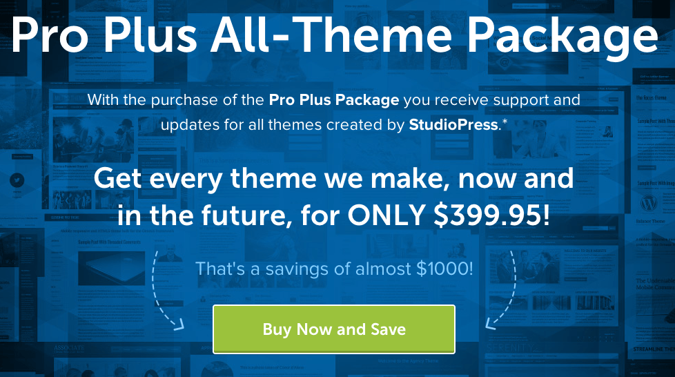 StudioPress Pro Plus Themes Package