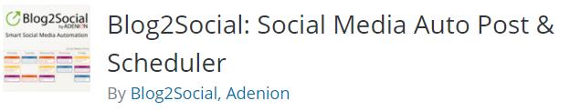 Social media auto post