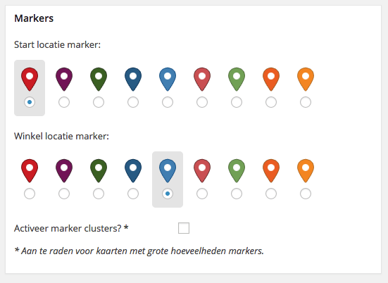 Store Locator Markers