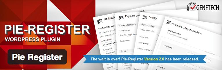 Pie Register plugin