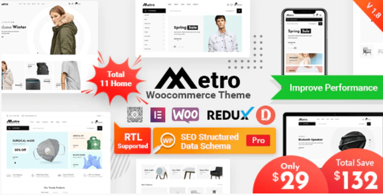 Metro theme template
