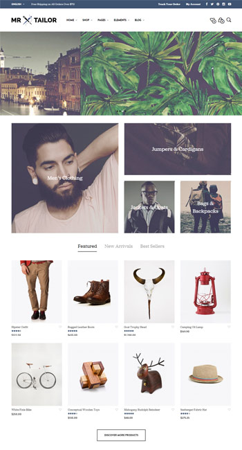 Mr Tailor WordPress theme